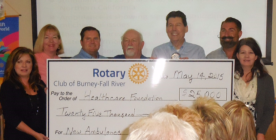 Rotary gives $25,000 for ambulance